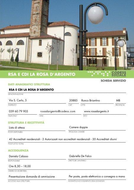 RSA E CDI LA ROSA D'ARGENTO - Codess Sociale