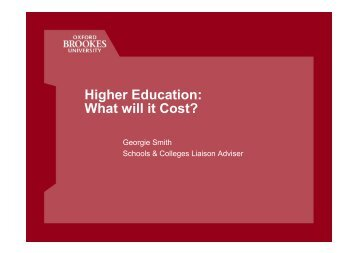 Higher Education: What will it Cost?