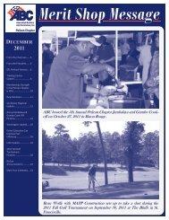 December 2011 Newsletter - ABC