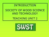 Introduction - Society of Wood Science and Technology