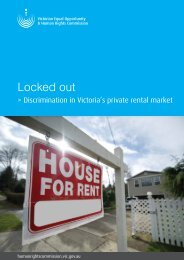 Locked out - Discrimination in Victoria's private rental market
