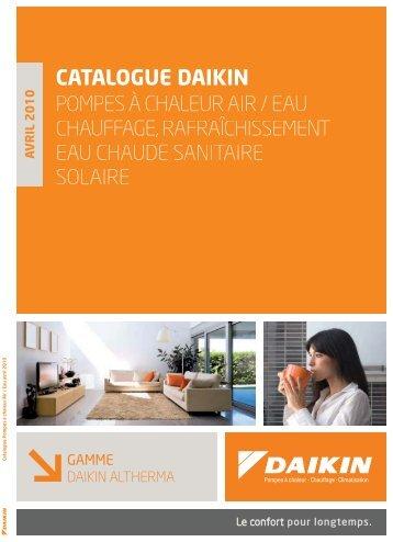 Catalogue Daikin Pompes a Chaleur AIR EAU Chauffage