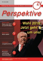 Perspektive 09/2010 - Zentralverein der Wiener Lehrerschaft
