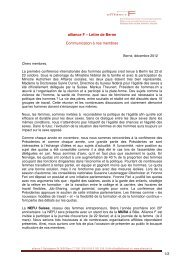 lettre de Berne décembre 2012 (pdf 61kb) - alliance F