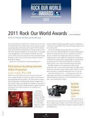 ROCK OUR WORLD AWARDS - Lighting & Sound America