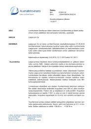 Päätös Nro 47/2011/2 Dnro LSSAVI/68/04.09/2010 Annettu ...