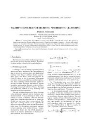 VALIDITY MEASURES FOR HEURISTIC POSSIBILISTIC ...