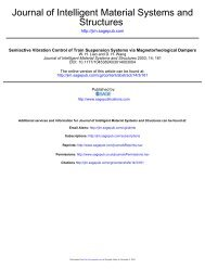 Structures Journal of Intelligent Material Systems and