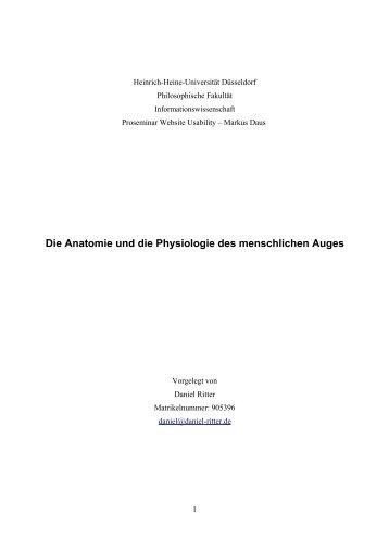 1 Fachbegriffe (Histologie, Anatomie, Physiologie und Pathologie ...