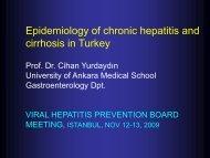Epidemiology of chronic hepatitis and cirrhosis in Turkey