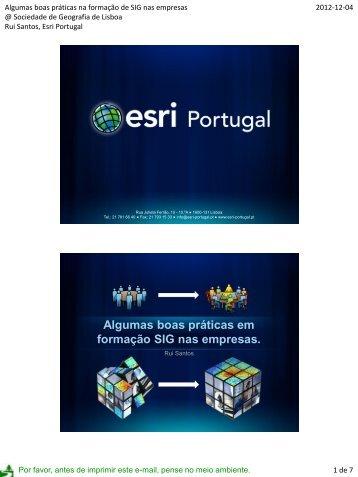 Rui Santos - Sociedade de Geografia de Lisboa
