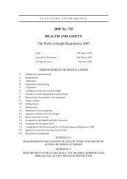 The Work at Height Regulations 2005 - Legislation.gov.uk