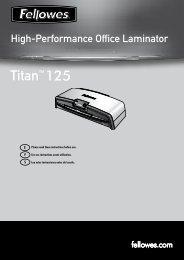 Titan 125 Manual - Fellowes