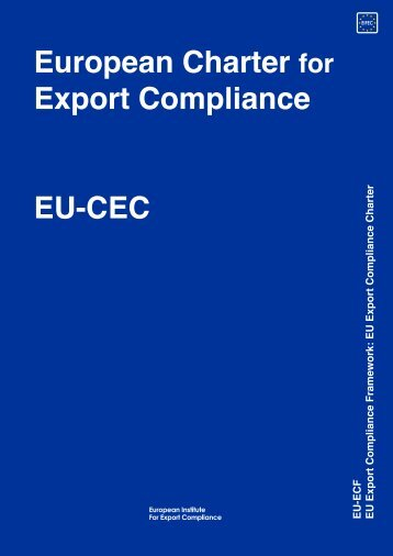 European Charter for Export Compliance EU-CEC EU-ECF EU ...