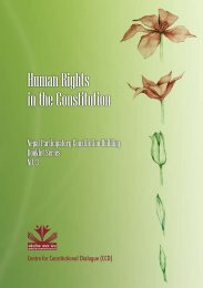 Human Rights in the Constitution - Support to Participatory ...