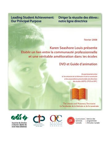 Guide d'animation - Curriculum Services Canada