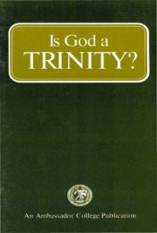 Is God A Trinity PDF - Church of God Faithful Flock