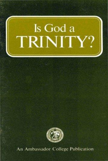 Is God A Trinity PDF - Church of God Faithful Flock