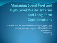 Managing Spent Fuel: Interim and Long-Term Considerations