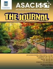 Fall Journal 2012 - Ancaster Senior Achievement Centre