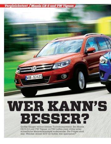 Vergleichstest Mazda CX-5 und VW Tiguan - Volkswagen AG