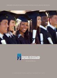 Simon Scholars Brochure