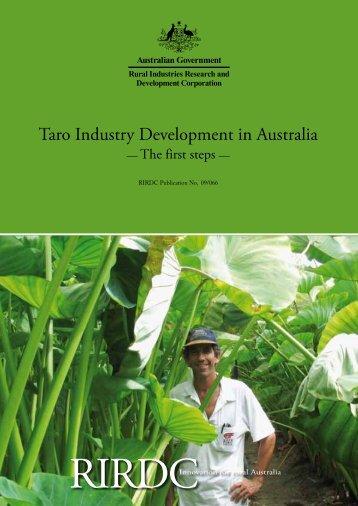 Taro Industry Development in Australia: The first steps