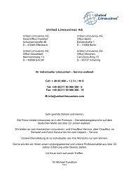 United Limousines AG - Comfort Aviation