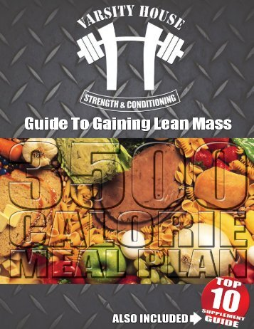 Guide to Gaining Lean Mass 3500 CALORIE MEAL PLAN