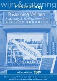 wijn & catering - Pasteuning