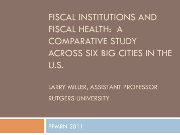 fiscal institutions and fiscal health: a comparative study ... - ppmrn