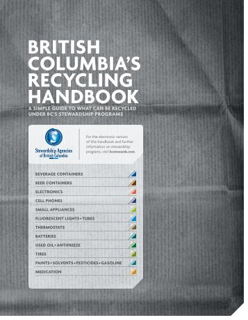 BRITISH COLUMBIA'S RECYCLING HANDBOOK - Alberta Used Oil ...