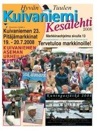 kuivaniemi kesälehti 2008 - Pudasjärvi-lehti ja VKK-Media Oy