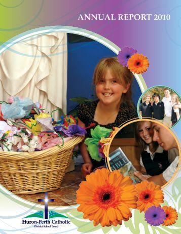 AnnuAl RepoRt 2010 - Huron-Perth Catholic District School Board