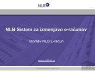 Uvajanje E-RAČUNA prek bančnega sistema - GZDBK