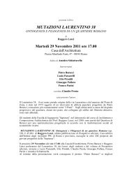 mutazioni laurentino 38 - Prospettive Edizioni