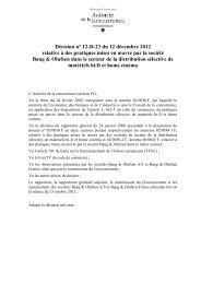 Décision n° 12-D-23 du 12 décembre 2012 relative à des pratiques ...
