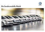 Die Sondermodelle Match - Volkswagen AG