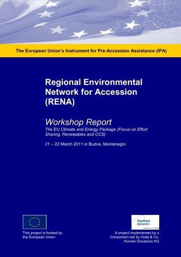 Workshop Report March 2011 Budva ... - Renanetwork.org