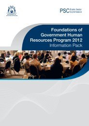 Foundations of Government Human Resources Program 2012 ...