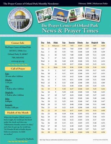 The Prayer Center of Orland Park Monthly Newsletter