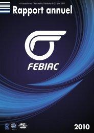 Rapport annuel - Febiac
