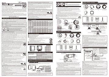 Defi Racer Gauge manual 52&60 gauges 2011.9-1