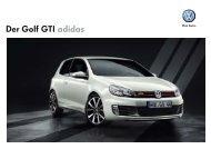 Der Golf GTI adidas - Volkswagen AG
