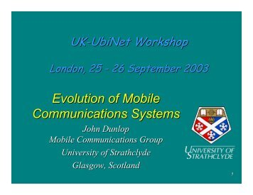 Evolution of Mobile Communications Systems