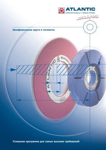 Шлифовальные круги и сегменты Yспешная ... - ATLANTIC