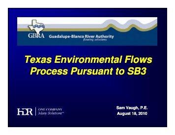 Texas Environmental Flows Process Pursuant to SB3 Texas ...