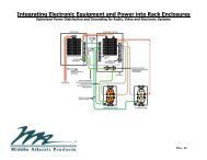 Integrating Electronic Equipment and Power into Rack Enclosures