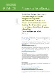 Vocational guidance in people with special educational needs as ...