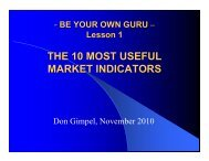 Lesson 1 - Be Your Own Guru